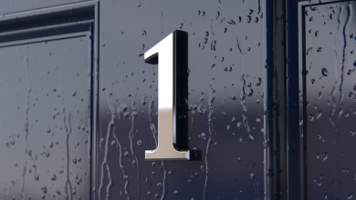 Photo of Chrome Door Number Is a Brilliant Alternative to Conventional Numbers